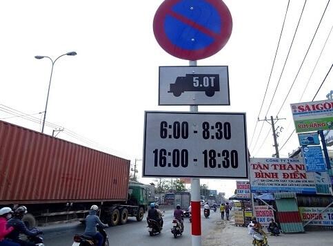 Mức phạt xe tải chạy vào giờ cấm tại TP. Hồ Chí Minh