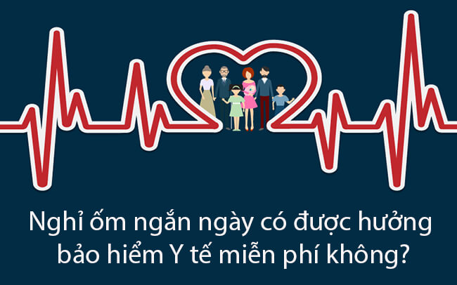 Nghỉ ốm ngắn ngày có được hưởng bảo hiểm Y tế miễn phí không