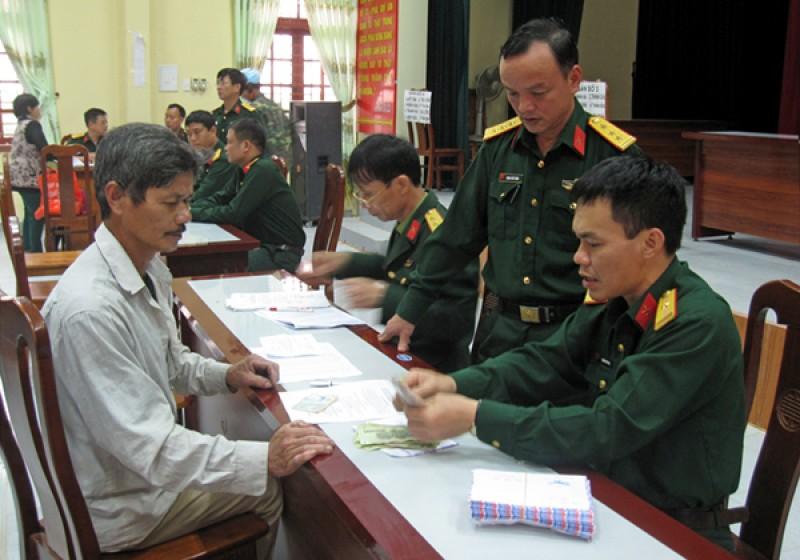 trợ cấp quân nhân xuất ngũ