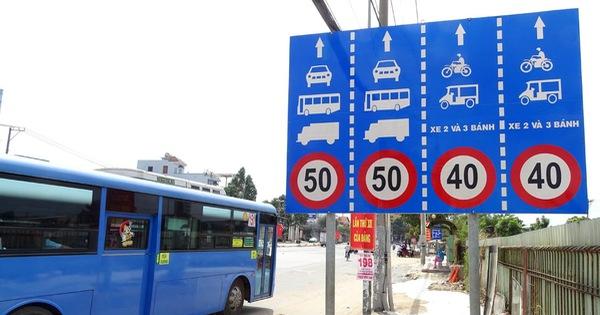 quy định về tốc độ các loại xe