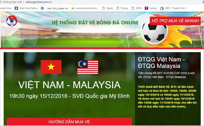 làm website bán vé bóng đá giả mạo có bị phạt không